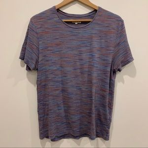 Reiss multi colour mini stripe short sleeve shirt